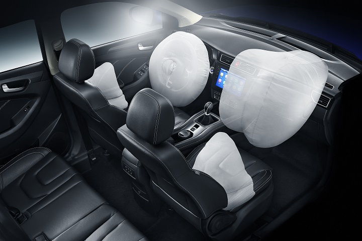 4 airbags for driver and passenger, because your safety is our priority