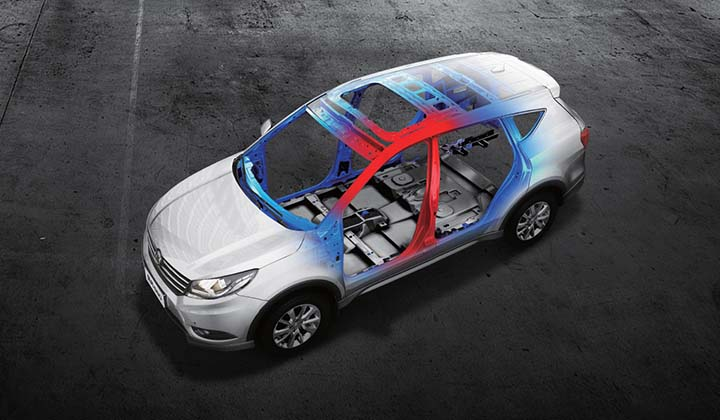 Strong car frame structure for maximum cabin protection (5-star C-NCAP)