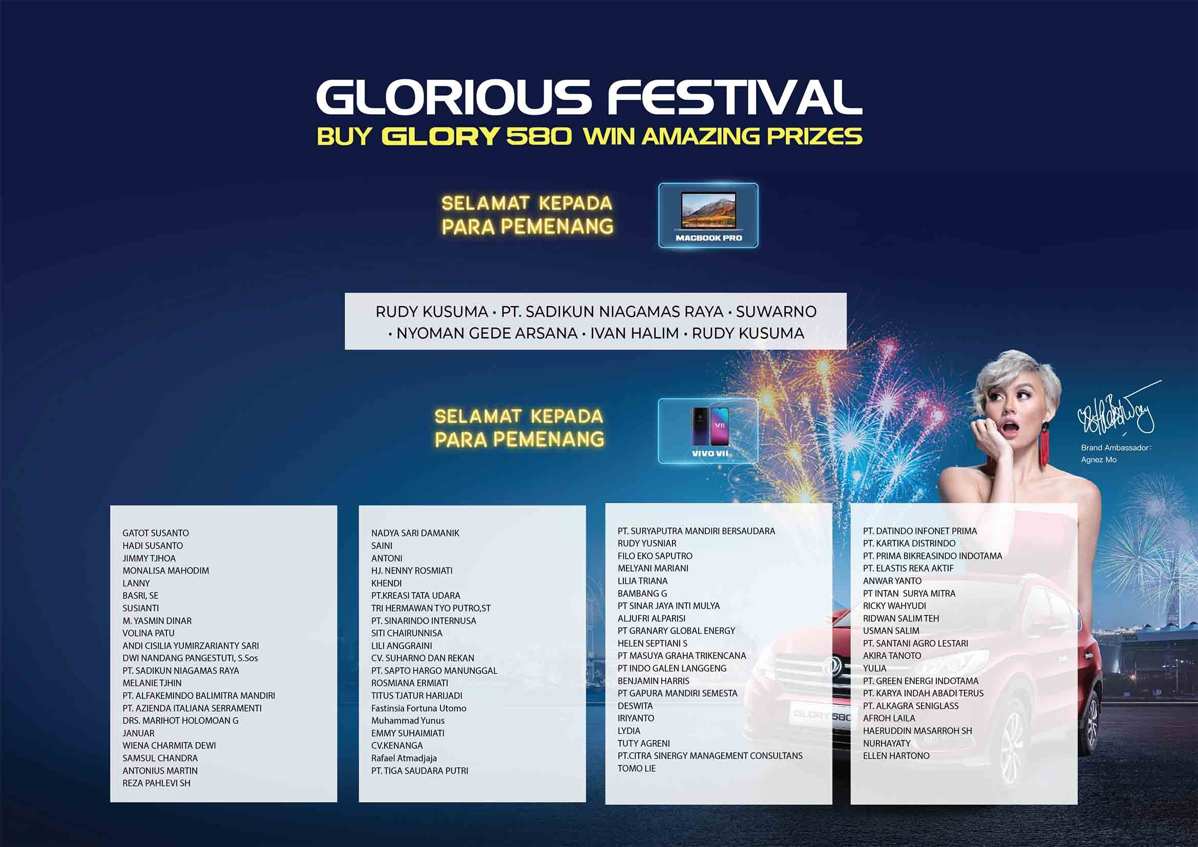 Pengundian Lucky Draw Glorious Festival